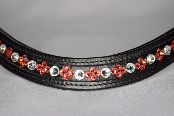 Swarovski Browband Indian Pink/Crystal