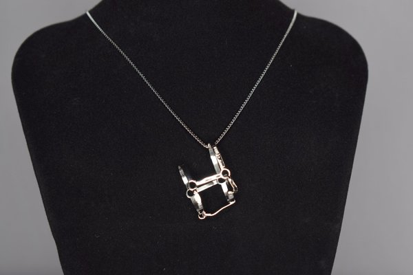 Silver necklace with halter